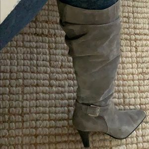 Suede tall boots